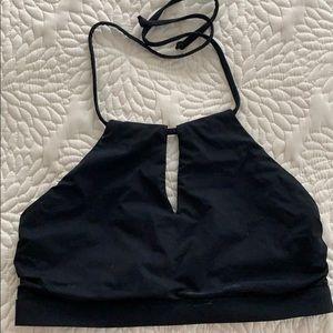 Athleta high-neck keyhole bikini top, medium